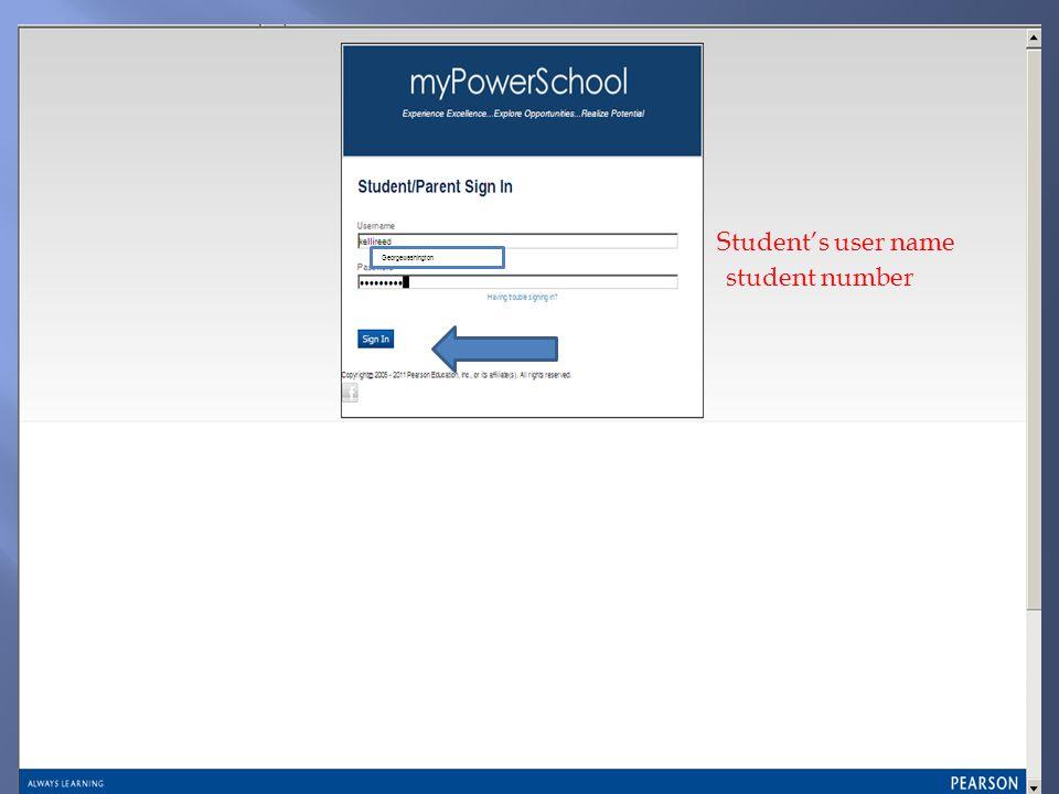 Students user name student number Georgewashington
