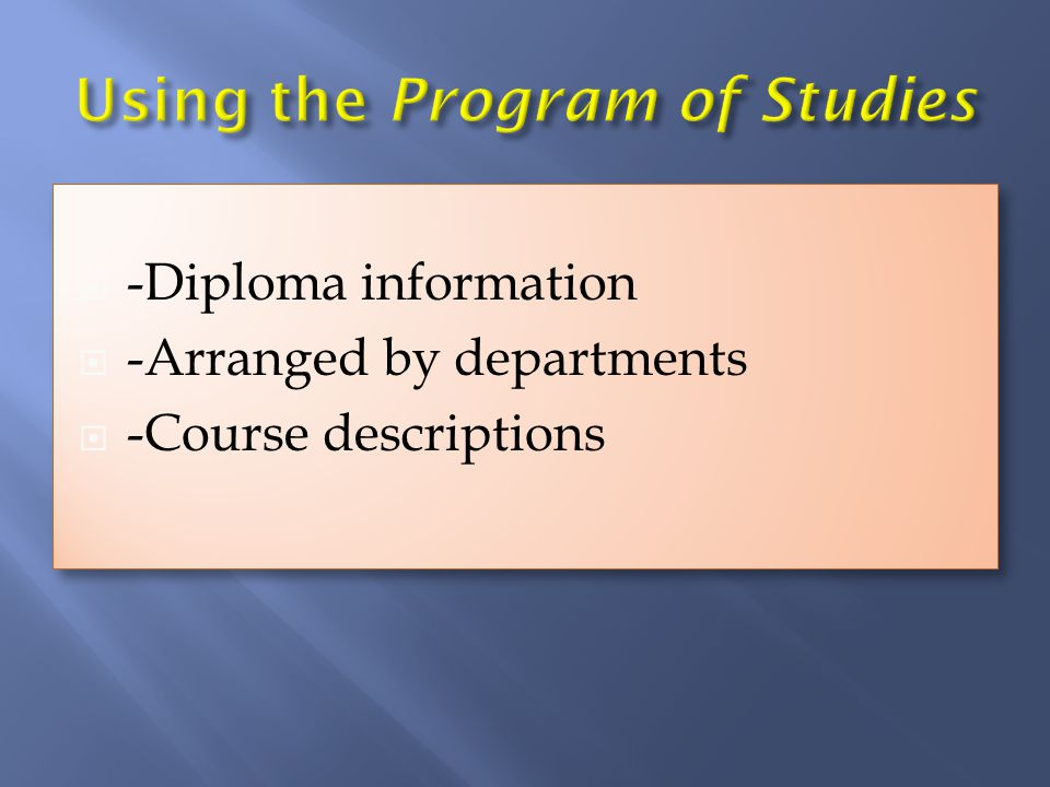-Diploma information -Arranged by departments -Course descriptions -Diploma information -Arranged by departments -Course descriptions