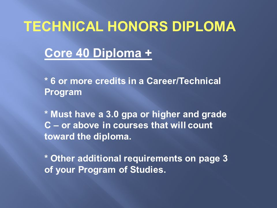 You will receive a copy of your transcript showing credits earned.