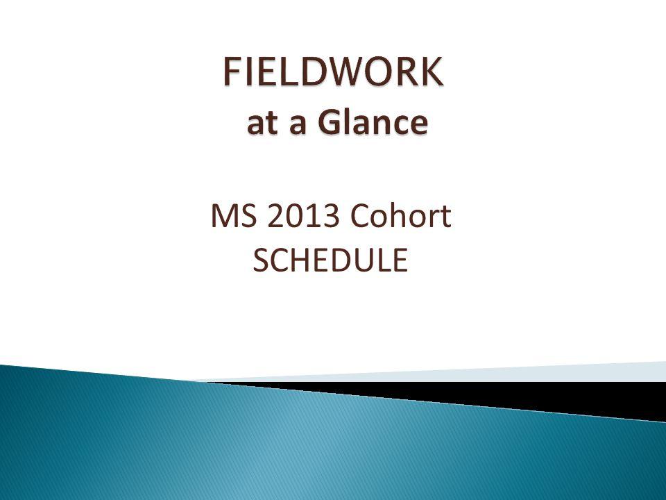 MS 2013 Cohort SCHEDULE