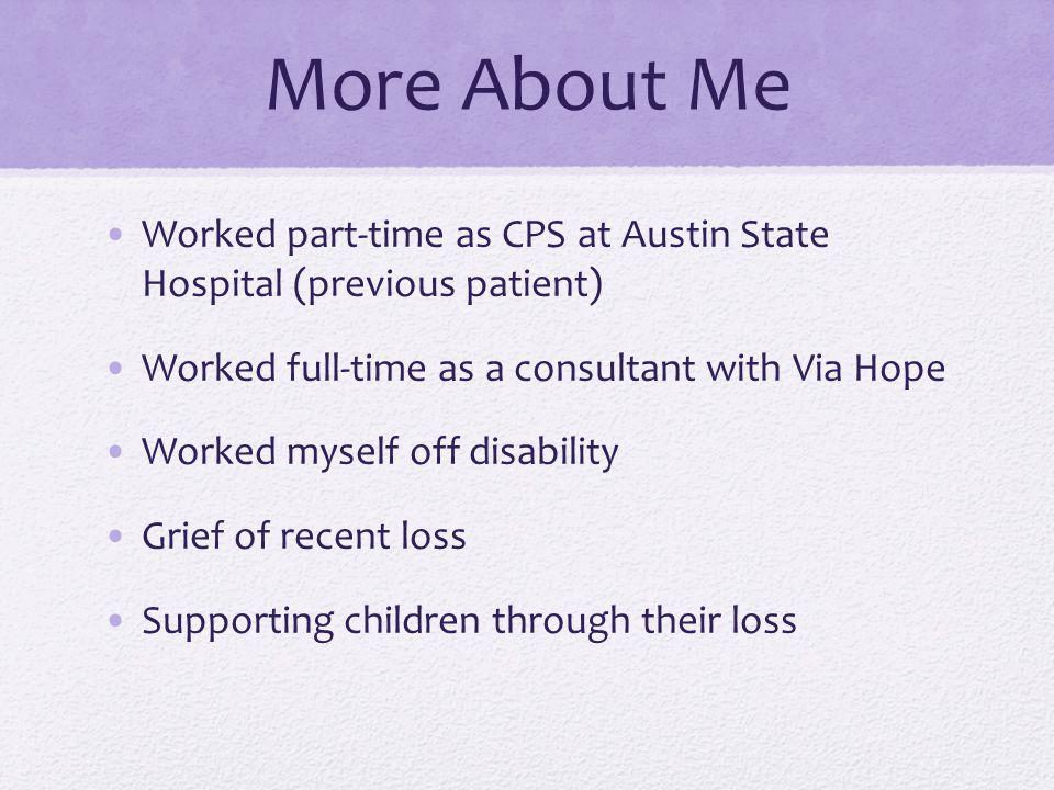 Priorities Change Career Family Managing the Illness Maintaining Wellness Me Advocacy