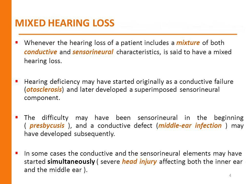 MIXED HEARING LOSS...