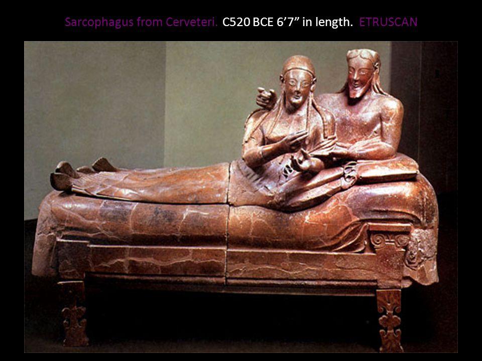 Sarcophagus from Cerveteri. C520 BCE 67 in length. ETRUSCAN