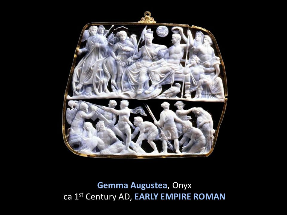 Gemma Augustea, Onyx ca 1 st Century AD, EARLY EMPIRE ROMAN