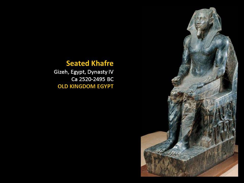 Seated Khafre Gizeh, Egypt, Dynasty IV Ca 2520-2495 BC OLD KINGDOM EGYPT