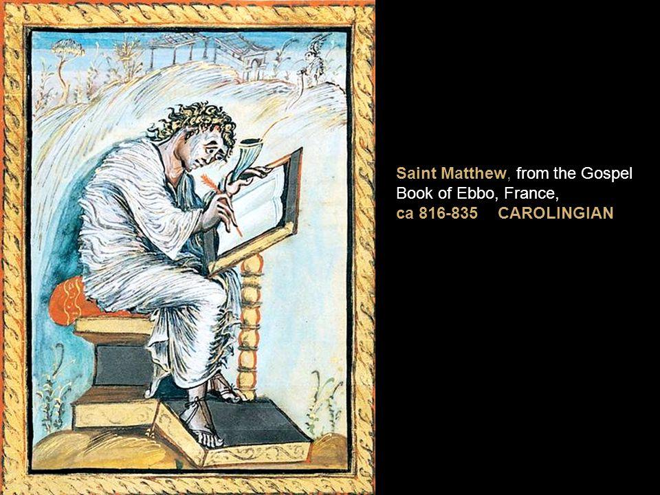 Saint Matthew, from the Gospel Book of Ebbo, France, ca 816-835 CAROLINGIAN