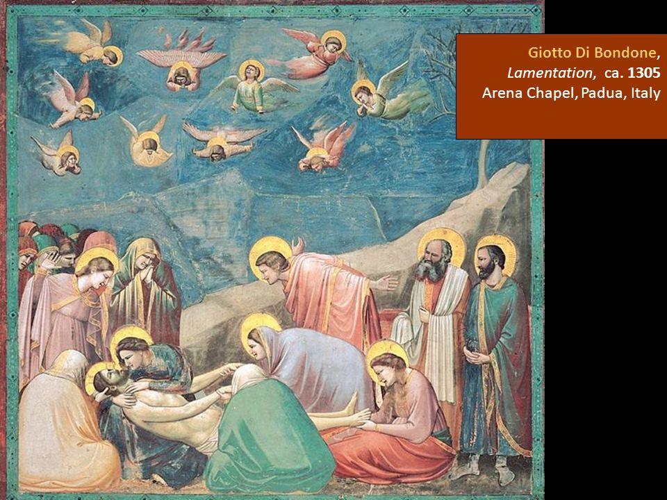 Giotto Di Bondone, Lamentation, ca. 1305 Arena Chapel, Padua, Italy