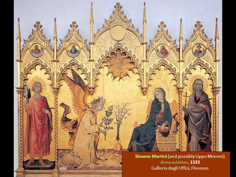 Simone Martini (and possibly Lippo Memmi) Annunciation, 1333 Galleria degli Uffizi, Florence
