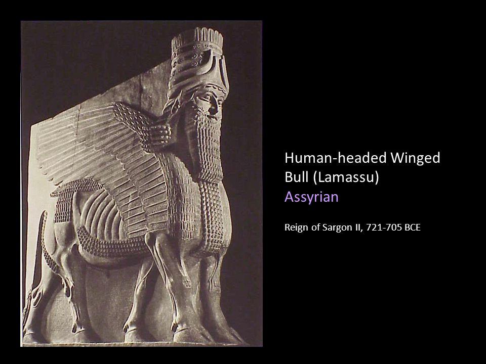 Human-headed Winged Bull (Lamassu) Assyrian Reign of Sargon II, 721-705 BCE