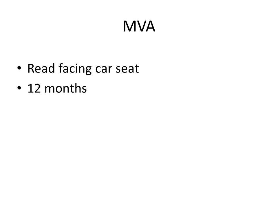 MVA Read facing car seat 12 months