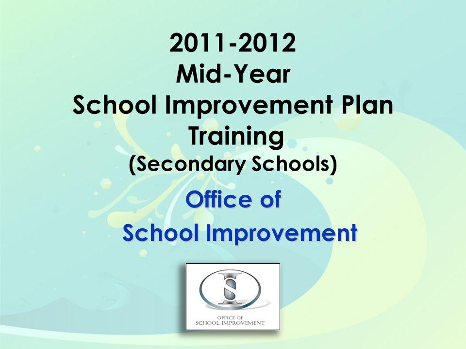Office of School Improvement School Improvement