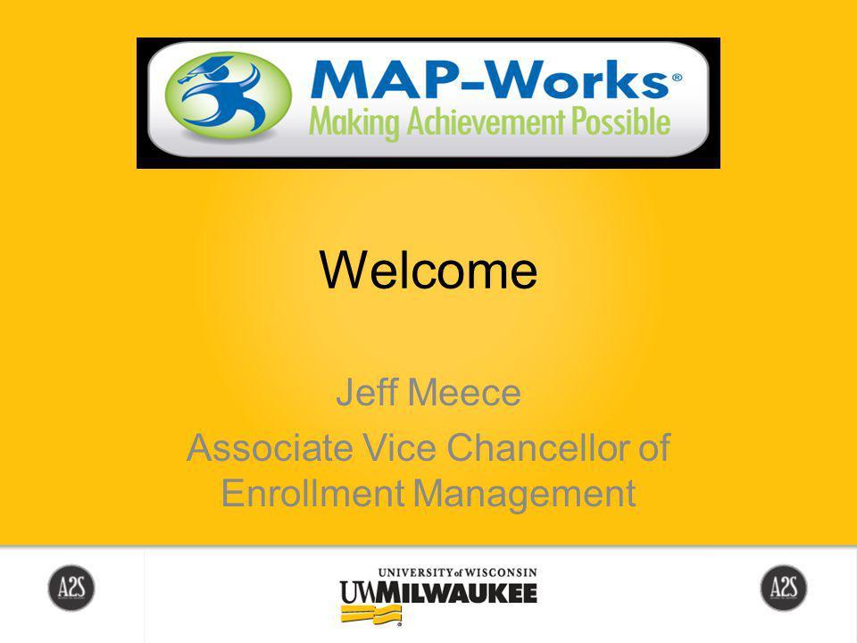 Welcome Jeff Meece Associate Vice Chancellor of Enrollment Management