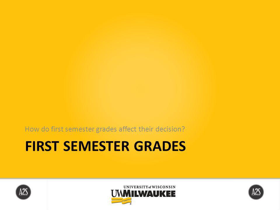 FIRST SEMESTER GRADES How do first semester grades affect their decision