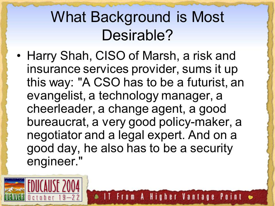 What Background is Most Desirable.
