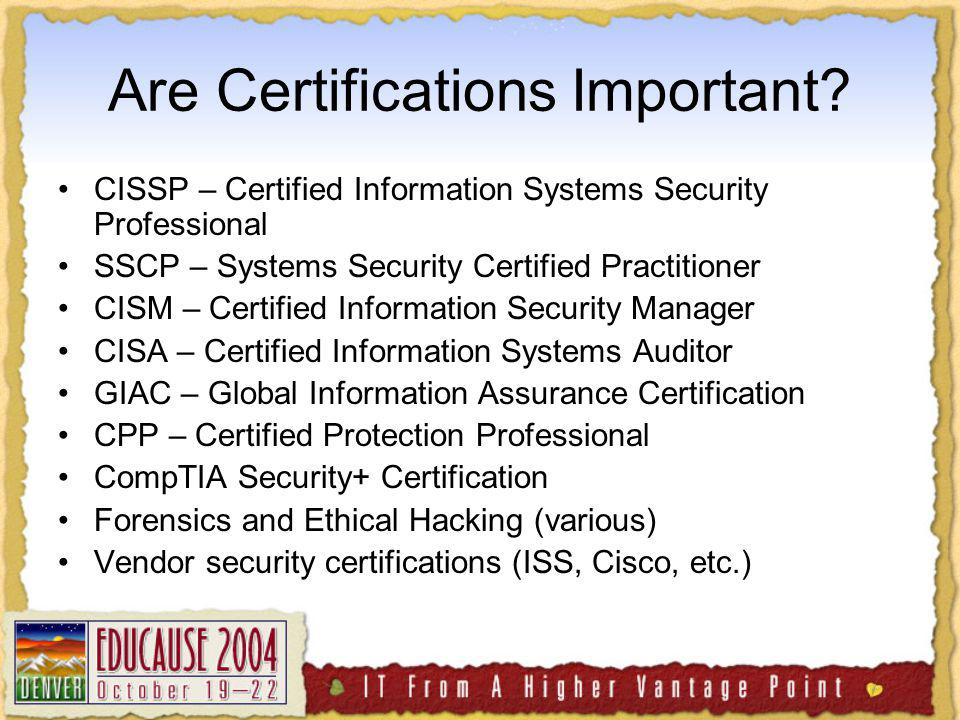 Are Certifications Important.