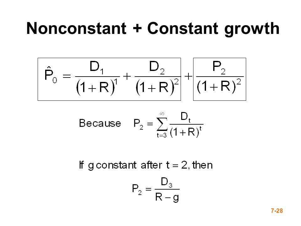 7-28 Nonconstant + Constant growth