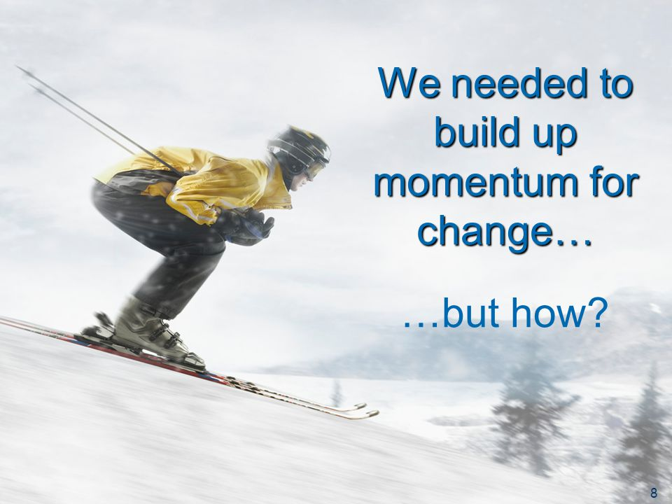 European Commission – Directorate-General Communication 8 We needed to build up momentum for change… …but how.
