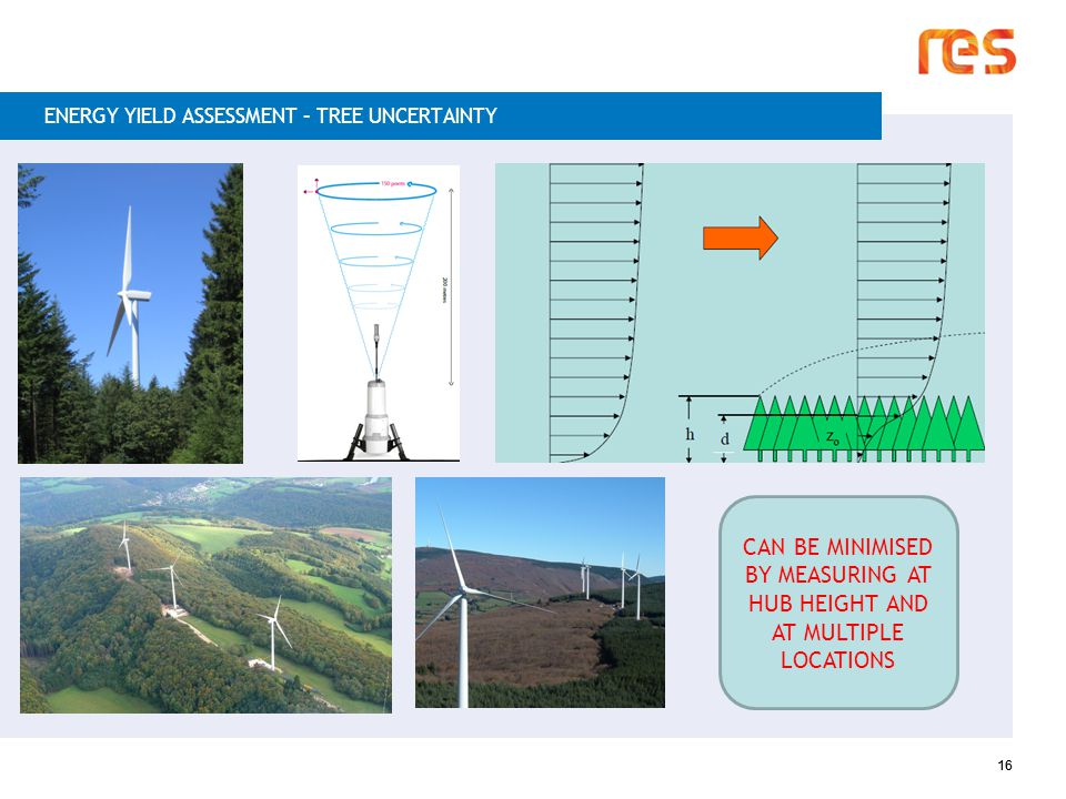 16 ENERGY YIELD ASSESSMENT – TREE UNCERTAINTY CAN BE MINIMISED BY MEASURING AT HUB HEIGHT AND AT MULTIPLE LOCATIONS 16