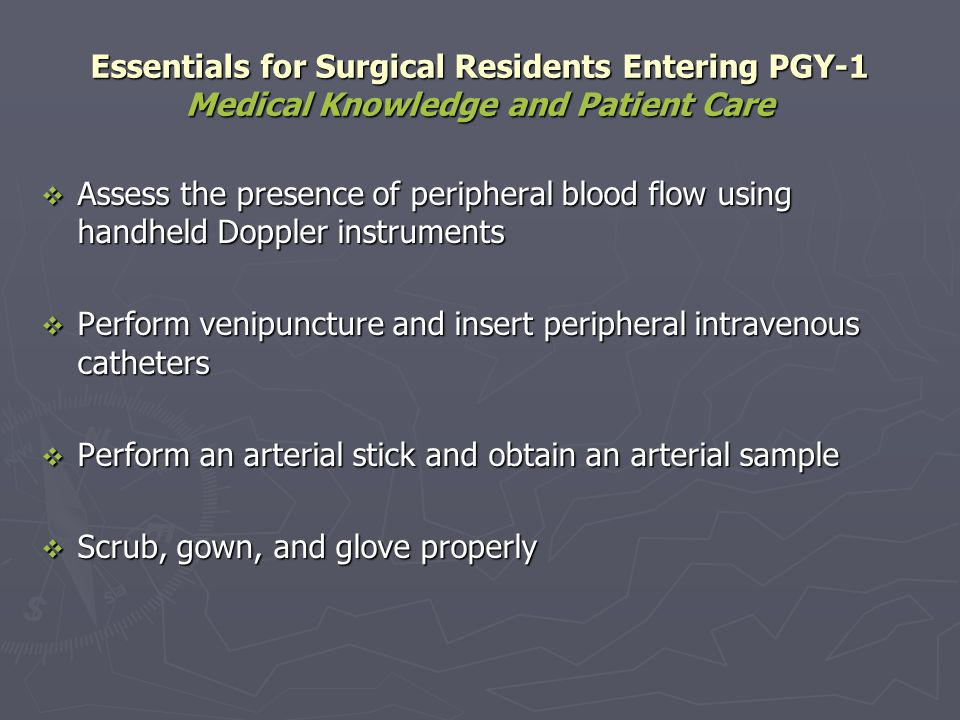 Assess the presence of peripheral blood flow using handheld Doppler instruments Assess the presence of peripheral blood flow using handheld Doppler in