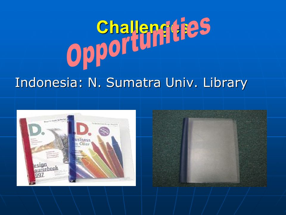 Challenges Indonesia: N. Sumatra Univ. Library