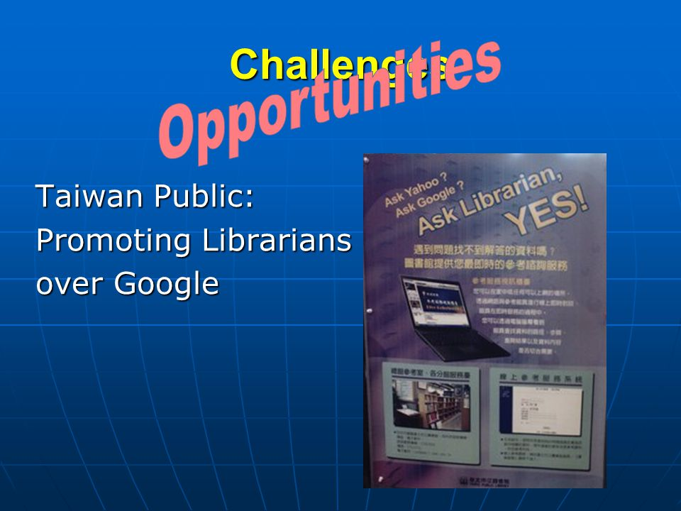 Challenges Taiwan Public: Promoting Librarians over Google