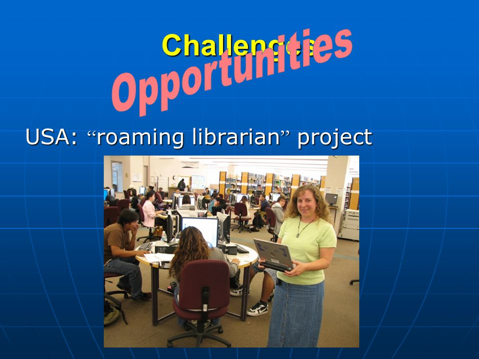 Challenges USA: roaming librarian project