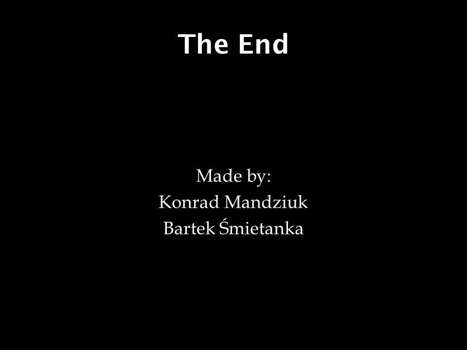 The End Made by: Konrad Mandziuk Bartek Śmietanka