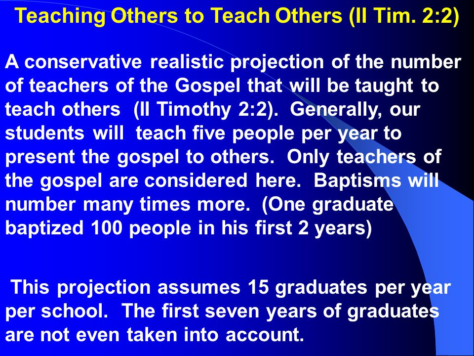 Teaching Others to Teach Others (II Tim.