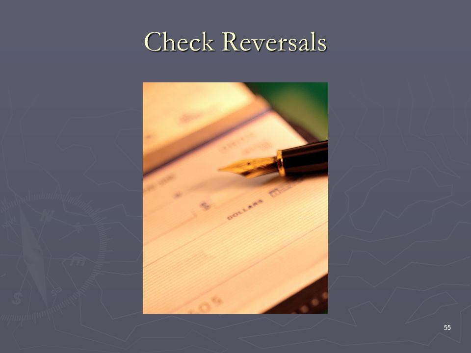 55 Check Reversals