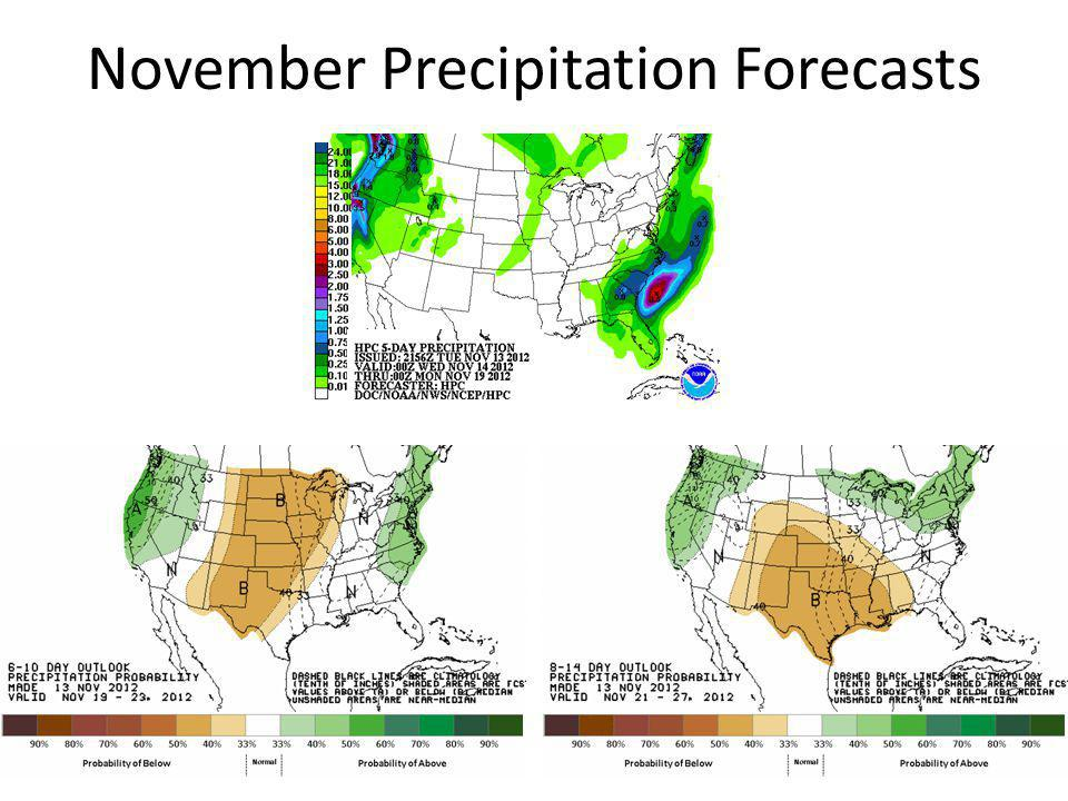 November Precipitation Forecasts