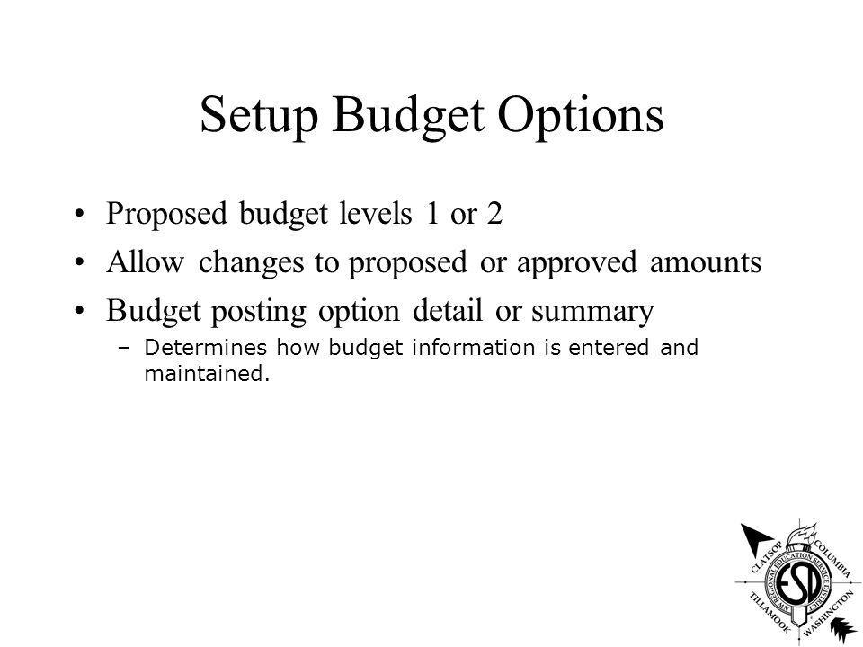 Budget Development System