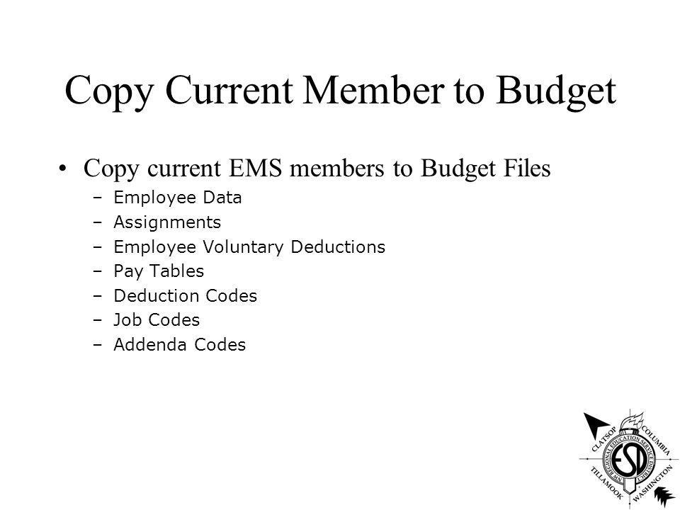 EMS Budget & Forecasting