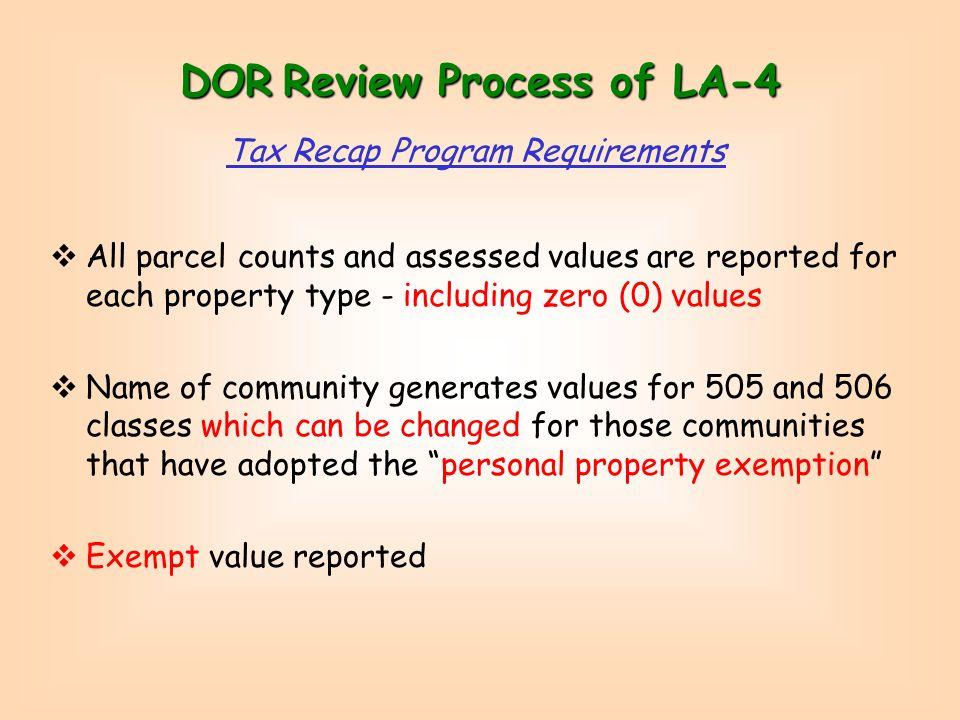 Assessment Classification Report - LA4