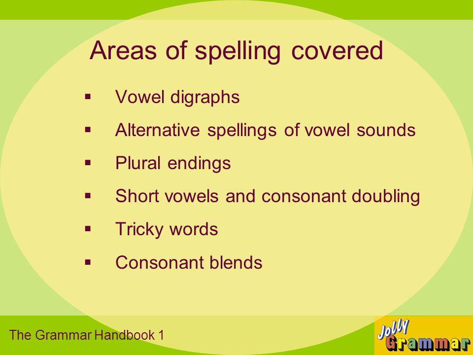Spelling Sounds The Grammar Handbook 1 shchthngquarffll aeiouss/zzcka-e I-eo-eu-ewhayeaighy owewouowoioyoral nkerirurauaw