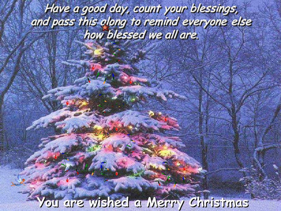 If you can read this message, you just received a double blessing that someone was thinking of you, and furthermore...