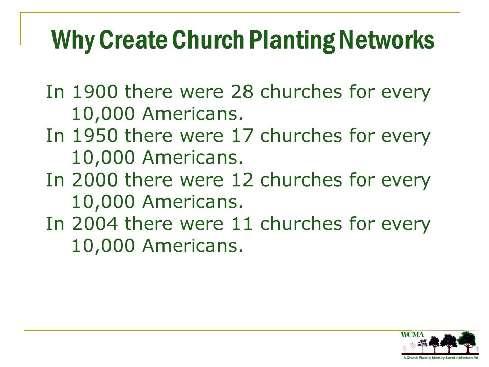 What Is a Church Planting Network A church planting network is a group of leaders and churches who commit to a relationship with each other where they share resources to plant churches.