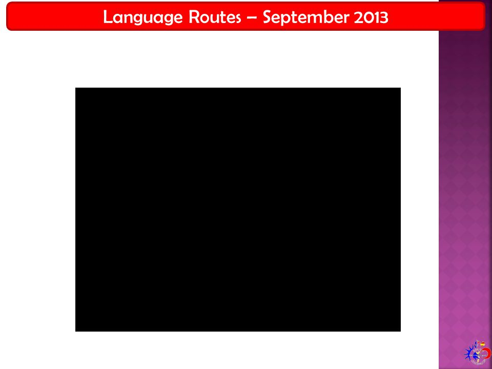 Language Routes – September 2013