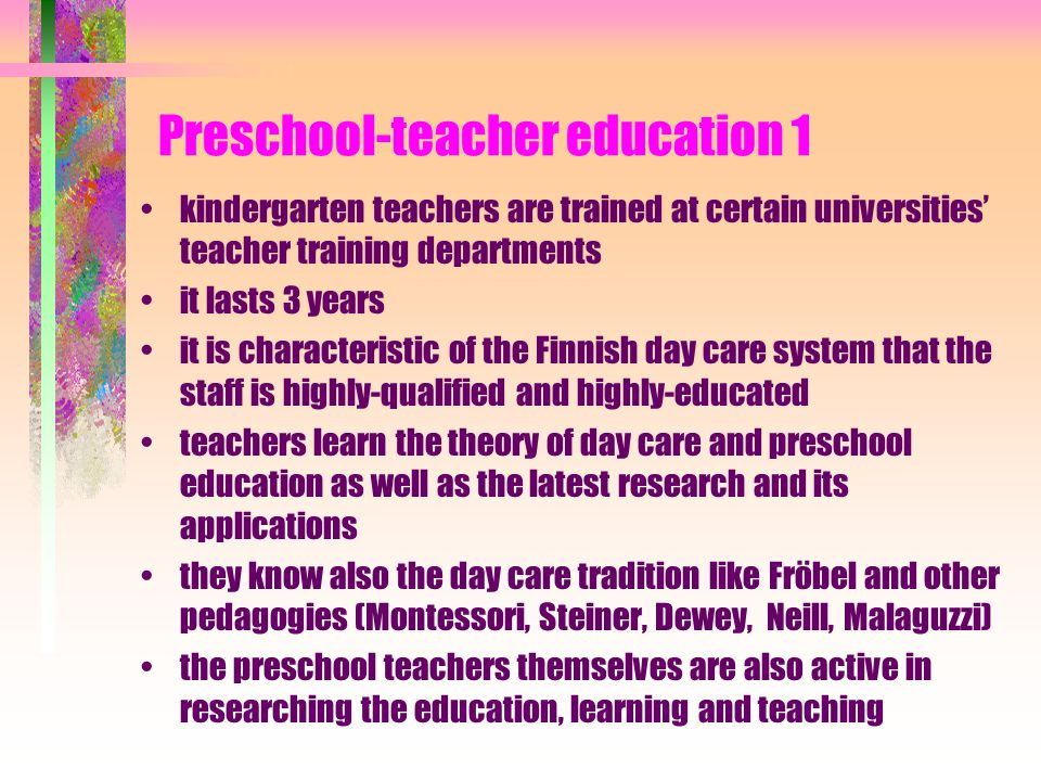 Obligatory things in preschool ? municipality must arrange preschool local curriculums must be planned on the basis of the national curriculum the cus