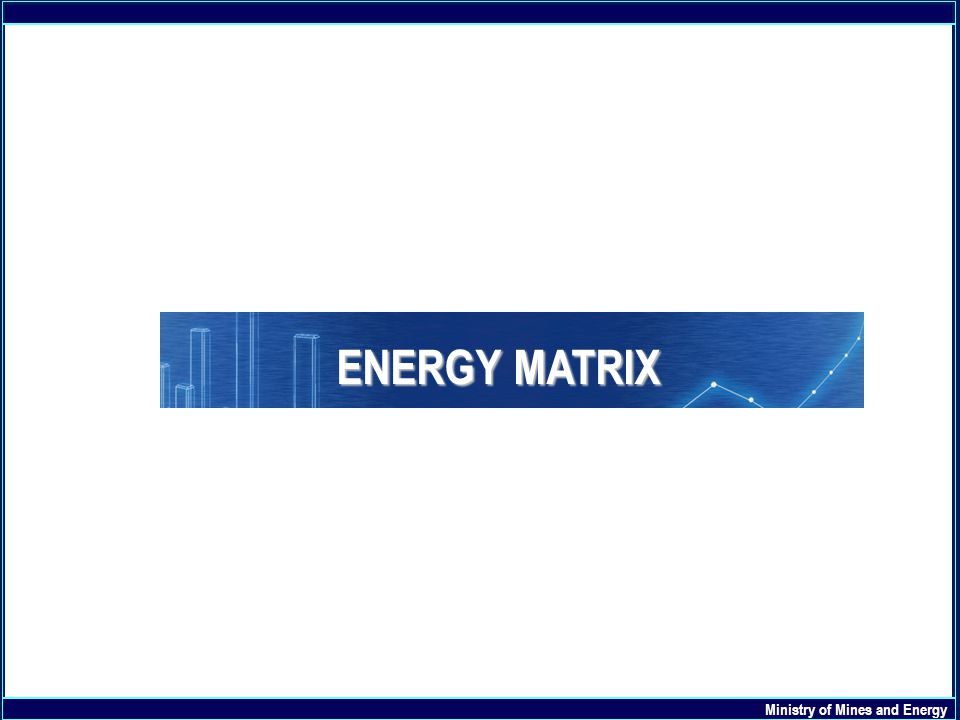 Ministry of Mines and Energy ENERGY MATRIX
