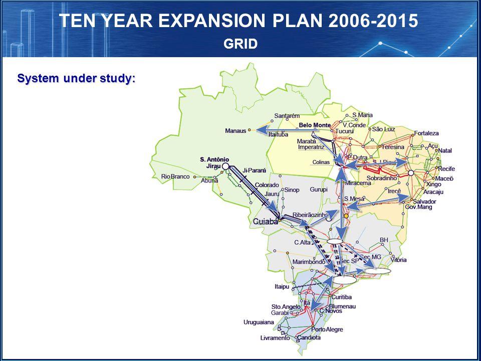 TEN YEAR EXPANSION PLAN 2006-2015 GRID System under study: