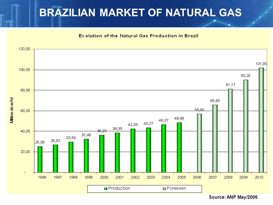 Source: ANP May/2006 BRAZILIAN MARKET OF NATURAL GAS