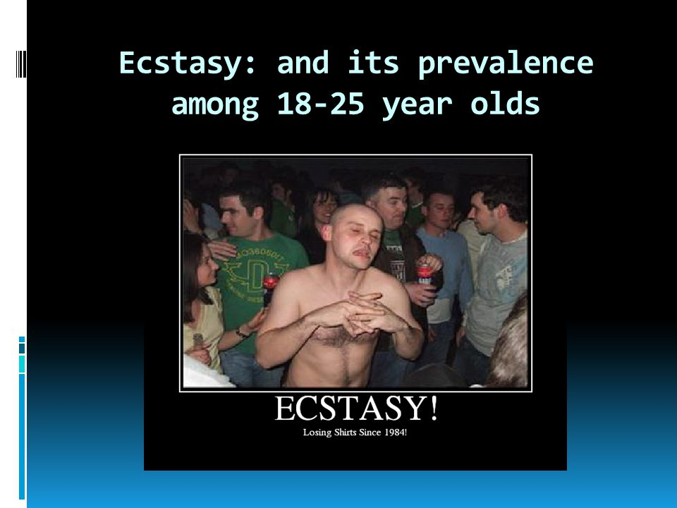 Ecstasy: and its prevalence among 18-25 year olds