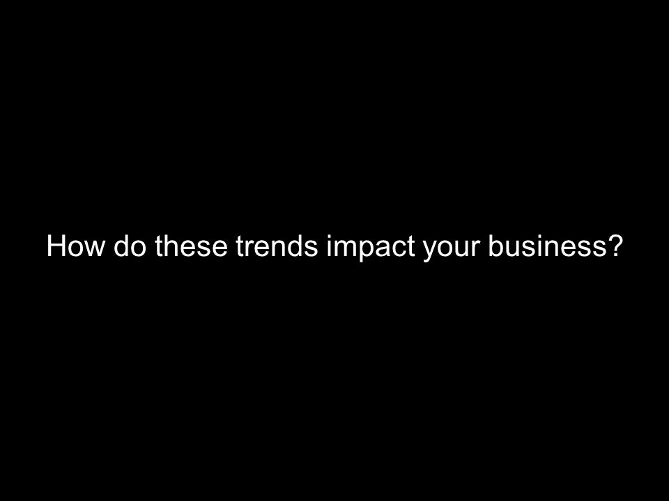How do these trends impact your business?