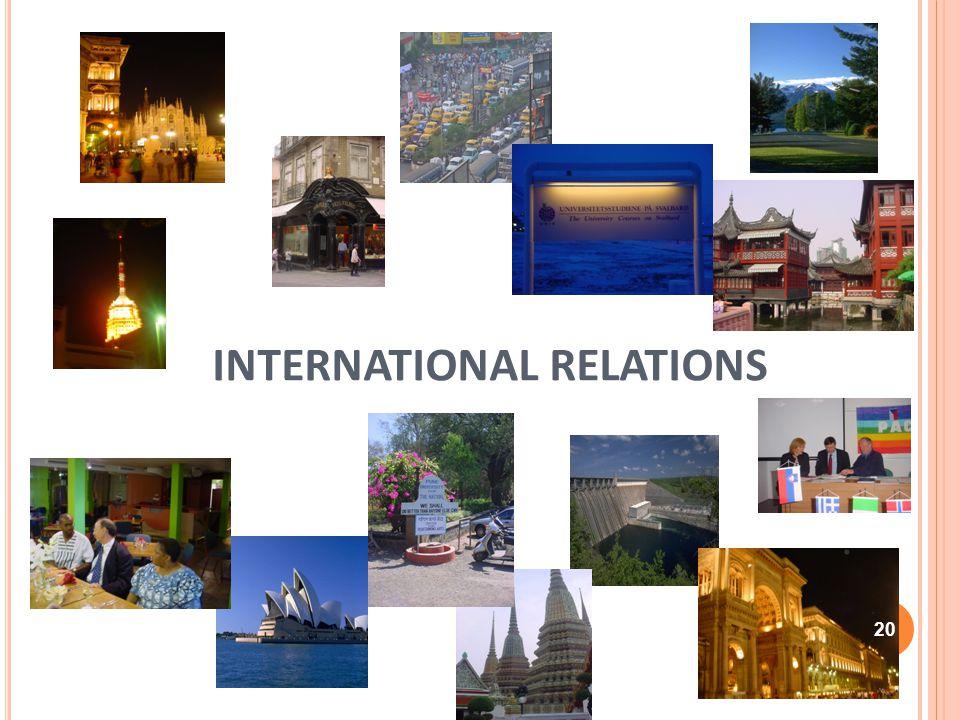 INTERNATIONAL RELATIONS 20