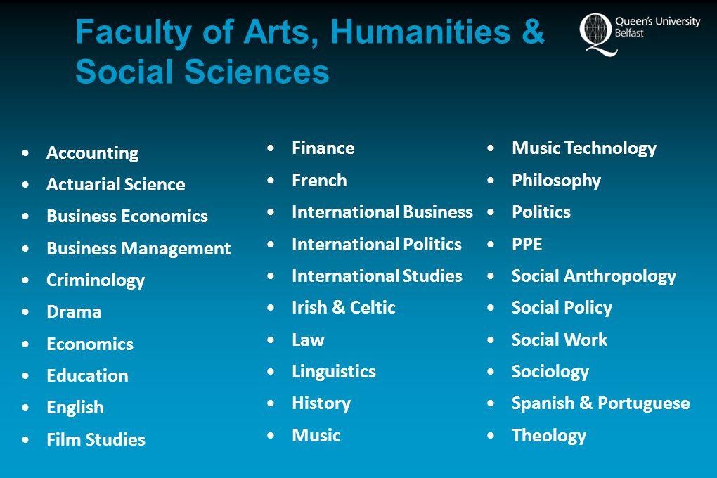 Humanities & Social Sciences BA/BMus/BSc/BSW Intake:Approx.