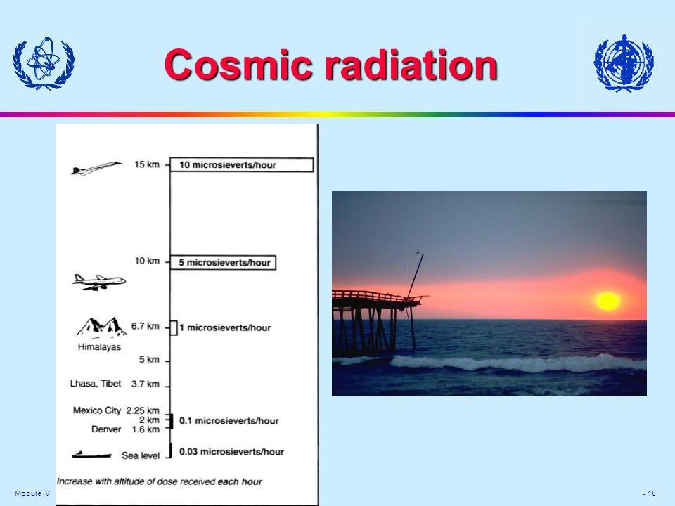 Module IV - 18 Cosmic radiation