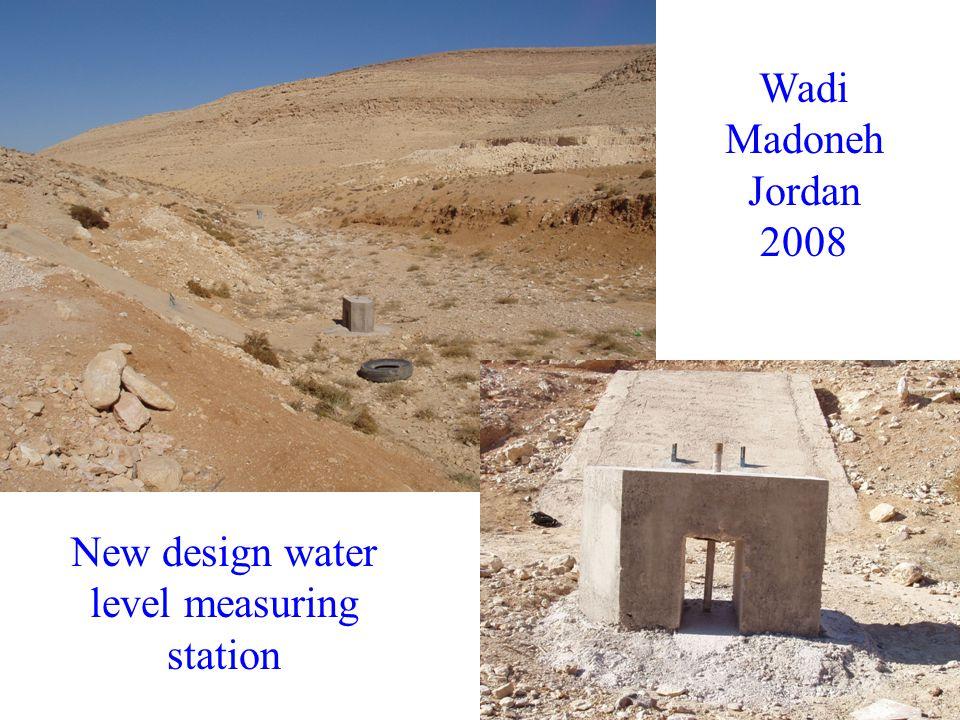 New design water level measuring station Wadi Madoneh Jordan 2008