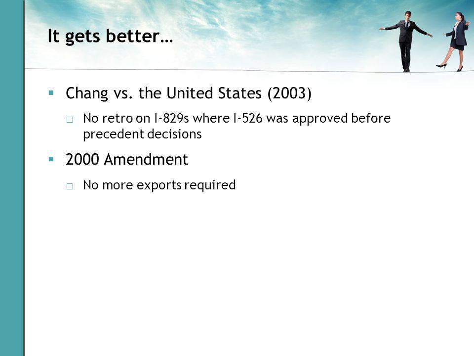It gets better… Chang vs.