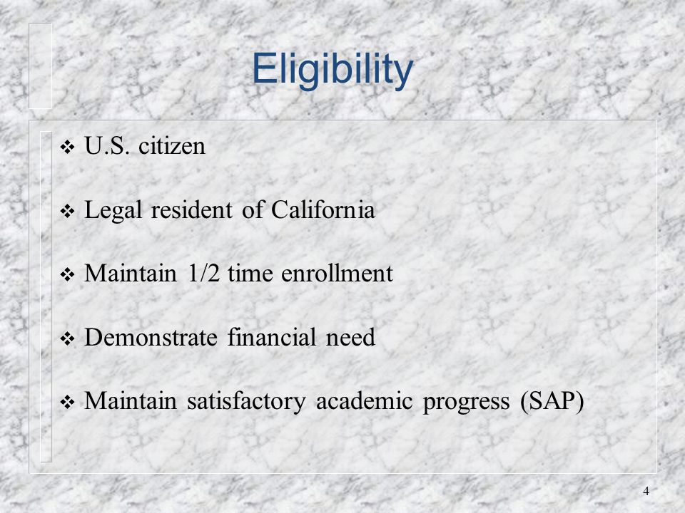 Eligibility U.S.