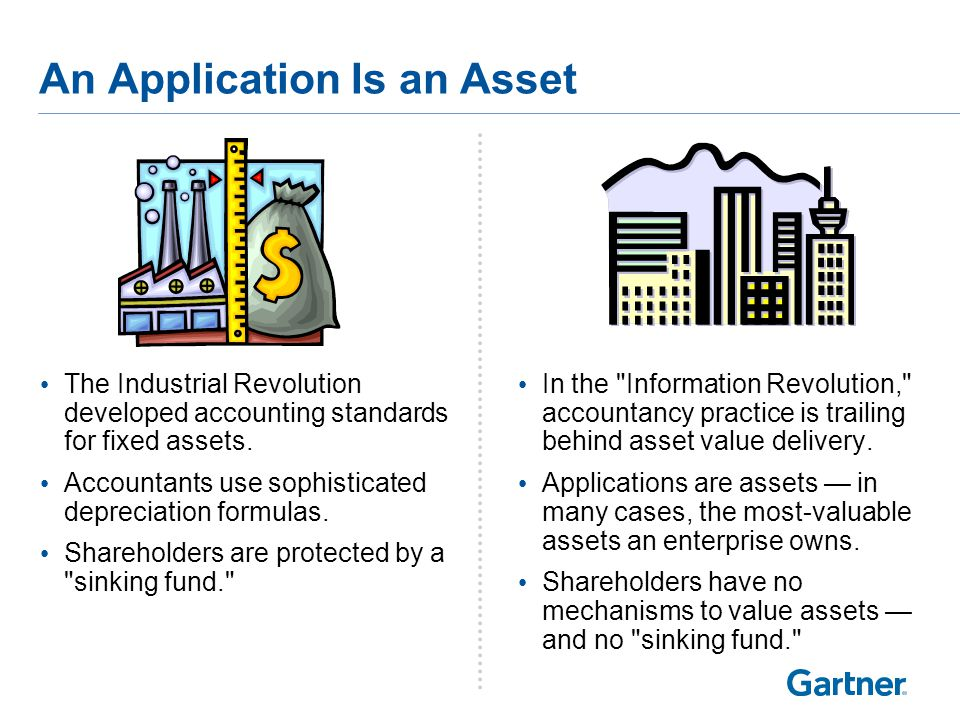 An Application Is an Asset The Industrial Revolution developed accounting standards for fixed assets.